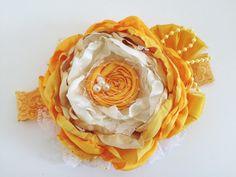 Sunshine daffodil    choice of headband or hair clip by Austenland