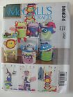 MCCALL'S PATTERN #6624 BASKET AND WALL HANGING FOR STORAGE FOR KIDS ROOM UNCUT - http://sewingpins.net/sewing/sewing-storage/mccalls-pattern-6624-basket-and-wall-hanging-for-storage-for-kids-room-uncut-2/