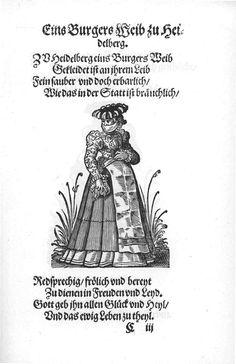 Frauen-Trachtenbuch 012.jpg A citizen's wife in Heidelburg.