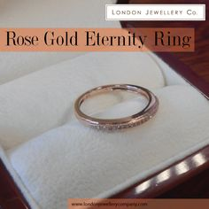Rose #Gold #Eternity #Ring with #Diamonds, From The #London #Jewellery Company