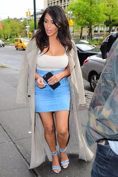 Kim Kardashian wearing Gianvito Rossi Lola Sandals and Naked Wardrobe Nw Bodysuit