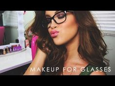 Makeup For Glasses :) - YouTube