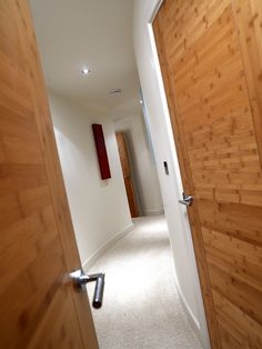 veneers are a contemporary and stylish internal door alternative. Contemporary Internal Doors, Internal Wooden Doors, Door Alternatives, Wooden Door Design, External Doors, Bespoke, Bamboo, Interior Design, Stylish