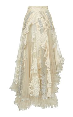 Get inspired and discover Zimmermann trunkshow! Shop the latest Zimmermann collection at Moda Operandi. Lux Fashion, Kpop Fashion, Skirt Fashion, Runway Fashion, Fashion Outfits, Fashion Design, Chiffon Skirt, Lace Skirt, Lace Chiffon