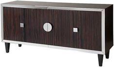 mid century modern zebra wood console