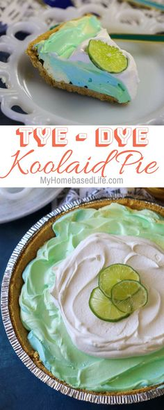 perfect summer recipe for picnics or for just enjoying as a family. This Tye-Dye KoolAid Pie works great with Easter and Earth Day as well! No Bake Desserts, Easy Desserts, Delicious Desserts, Dessert Recipes, Jello Recipes, Candy Recipes, Tart Recipes, Baking Recipes, Kids Pie Recipes