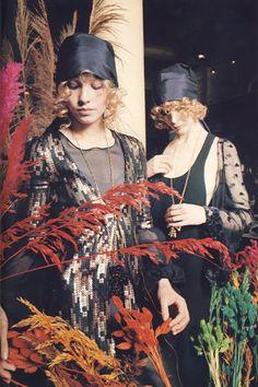 Biba sequins & feathers.
