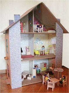 Case delle bambole fai da te di cartone  (Foto 28/28)   PourFemme