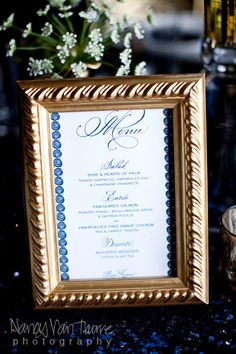 Love the gold frames to display anything at the wedding - from engagment photos to parents/grandparents wedding pictures for gift table, etc. OR gold frames for each table number.