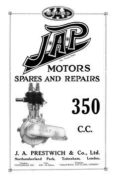 JAP 350cc. Bmw Cafe Racer, Cafe Racers, Vintage Cafe Racer, Motorcycle Posters, Motorcycle Engine, Bobber Chopper, Old Ads, Sidecar, Bobbers