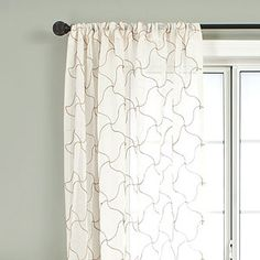 $35-$45 Cream Osiris Curtain | World Market