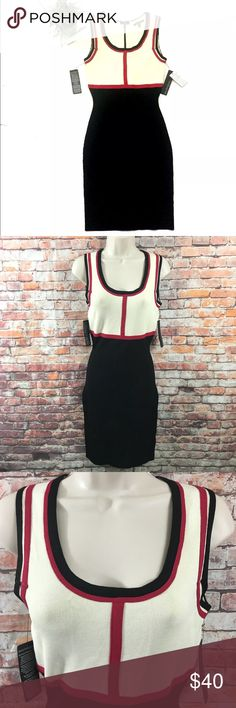 Eva Langoria Bodycon Ribbed Knit Dress Black M Beautiful stretch sweater bodycon dress . See all photos before purchasing and measurements for proper fit. New with defects tags has been slit /cut see photos. Inventory 100A45pe. Eva Langoria Dresses Midi