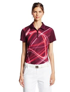 Featuring UV protection UPF 40+ this womens NA fluid light golf polo shirt  by Puma 87af7f9ff4
