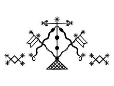 Veve of Damballa, ruler of the mind, intellect, and cosmic equilibrium in Haitian Vodou.