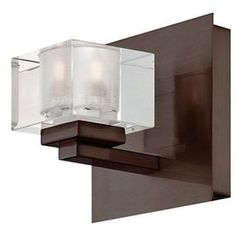 Portfolio 5-in W 1-Light Bronze Pocket Hardwired Wall Sconce for stairs... lowes.com