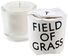 field of grass: freshly cut grass in the heart of the country. swaying daises sing a lazy song beneath the sun.  40% recycled heavy weight vintage style glassware with pure soy wax hand blended with beeswax, essentials & perfume oils. candle size: 2oz, 56.7g / approx. burn time: 16 hours.