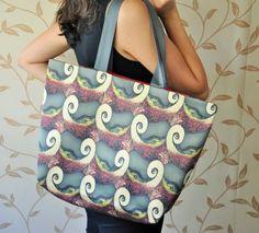 Digital baskı iki kulplu renkli heybe omuz çanta