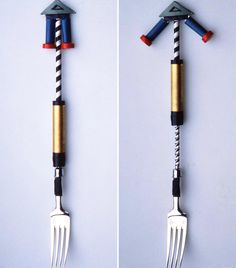 Possibly the coolest Spaghetti fork ever. complete with counter weights, Richard Sapper