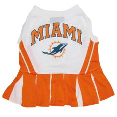 1053e74666c Miami Dolphins Cheerleader Pet Dress – Major League Pets Cheerleading  Outfits, Nfl Fans, Nfl