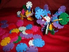 Plastic Slotted Building Disks - Nursery school