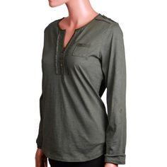Eddie Bauer Womens Long Sleeve Split-Neck Henley Top - List price: $49.99 Price: $24.99 Saving: $25.00 (50%) + Free Shipping