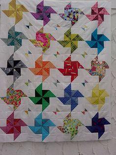 A pinwheel quilt