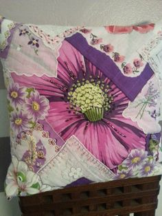 Hey, I found this really awesome Etsy listing at https://www.etsy.com/listing/200153130/crazy-quilt-vintage-hankie-pillow