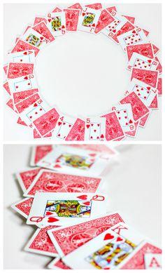 Playing card wreath