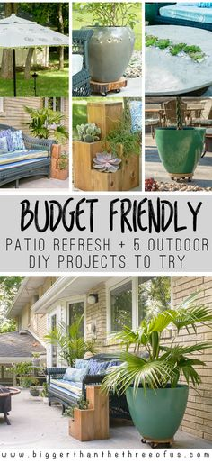 Check out this budget-friendly patio refresh + 5 Outdoor projects for you to try! You'll be inspired to start tackling your outdoor space!