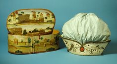 Woman's Work Bag and Box Portugal, Lisbon, circa 1787 Tools and Equipment; boxes a) Work bag: Silk and gold embroidery, sequins, paste stone...