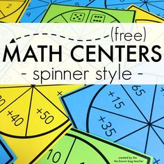 Differentiating Your Classroom with Ease with these free math spinner centers Math Classroom, Kindergarten Math, Teaching Math, Maths, Teaching Tools, Math Tools, Classroom Freebies, Classroom Organization, Classroom Management