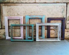 Picture Frames 5 x 7 Painted Distressed Set by turquoiserollerset, $40.00