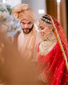 "As the Sabyasachi bride rightly quoted, ""The Maximalist Bride"". She looks nothing less than a goddess in this beautiful red… Indian Bridal Outfits, Indian Bridal Wear, Pakistani Bridal, Bridal Dresses, Wedding Outfits, Bride Groom Photos, Indian Bride And Groom, Beautiful Indian Brides, Beautiful Bride"
