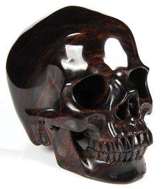 Mexican Mahogany Obsidian Crystal Skull