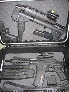 Kel-Tec PLR-16 (.223) Kel-Tec Sub-2000 (.40) Glock 22 or 23 (.40)