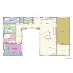 plan maison en u   MAISON EN U PISCINE - Plan 10 pièces 181 m2 dessiné par alexbull69