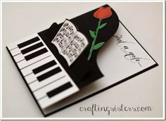 "Piano Card with link to file and to Designer Edition software at a really good price... ""Just a note"""
