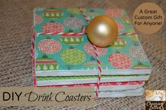 DIY Drink Coasters; a custom gift