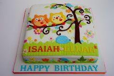 Love the hedgehog on this owl cake