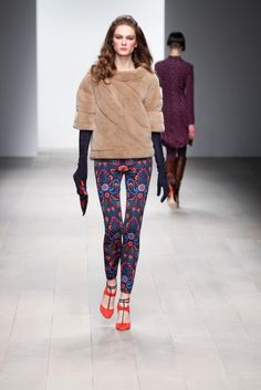 Lovely use of tribal prints gives some fire to Issa London this season.