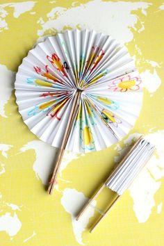 DIY Paper Fans | Gluesticks