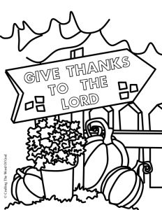 Give thanks to the Lord Thanksgiving Coloring page #Bible #GiveThanks #SundaySchool