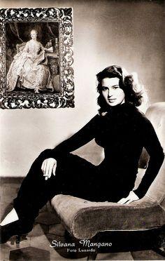 Silvana Mangano   REMINDS ME OF ISABELLA ROSSALINNI......ccp