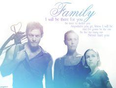 almost a family...  Daryl Dixon, Carol Peletier, and Sophia Peletier    [ The Walking Dead ]