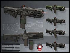 pathfinders enemy assault rifle, Kris Thaler on ArtStation at https://www.artstation.com/artwork/aLoBz