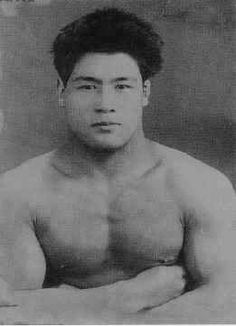 """Masahiko Kimura, widely considered one of the greatest judoka (judo practitioners) of all time. In submission grappling, the reverse ude-garami arm lock is often called the """"Kimura"""", due to his famous victory over Gracie jiu-jitsu co-creator Hélio Gracie in Brazil in 1951."""