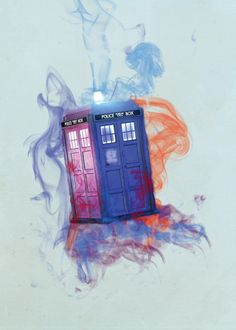 Tardis watercolor