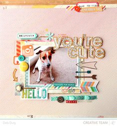 you're cute.  deb duty {photography + scrapbooking}: scrapbook layouts: neverland