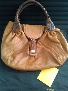 8246d1a8413f Fendi Small Spy Bag Lamb Leather in two-tone Brown  Fendi  TotesShoppers  Brown