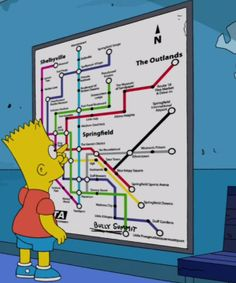 'The Simpsons' Unveils a New Springfield Public Transit Map